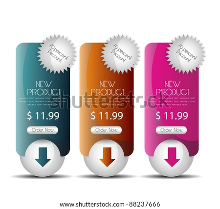 hi quality web sale banner - stock vector