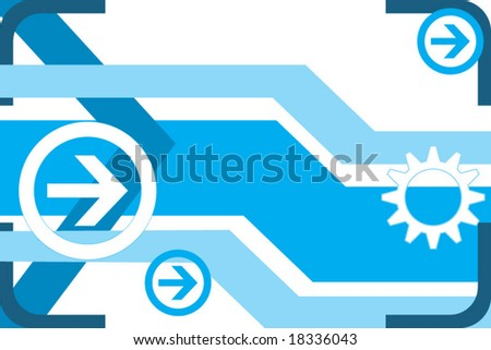 Hi-tech abstract background - stock vector