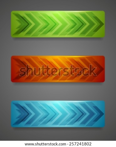 Hi-tech abstract banners with arrows. Vector background - stock vector