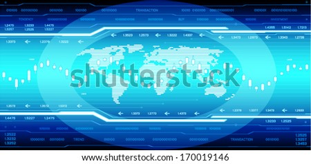 HI-tech background (EPS10 vector) - stock vector