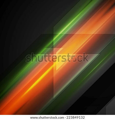 Hi-tech background with shiny glow stripes. Vector illustration - stock vector