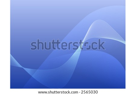 Hi-tech blue background - stock vector