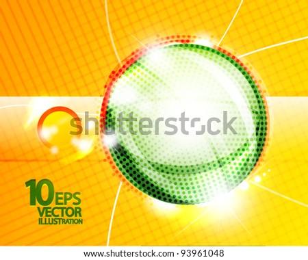 Hi-tech bubble vector abstract background - stock vector