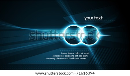 Hi-Tech Energy Rings| Vector Science Fiction Series - Separated Layers named accordingly - stock vector