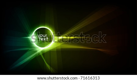 Hi-Tech Placeholder for Text in Space | Great for Intro Animation, Motion Graphics - Separated Layers named accordingly - stock vector