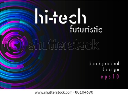 Hi-tech shiny background design (eps10) - stock vector