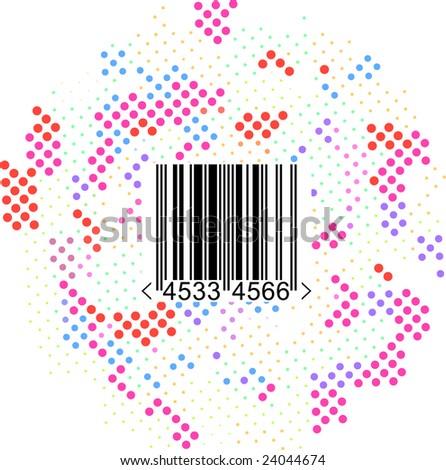 hi-tech vector colour halftone design - stock vector