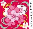 hibiscus - stock vector