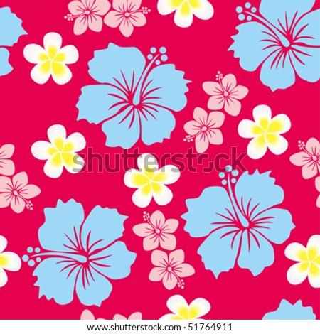 Hibiscus Background - stock vector