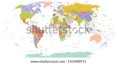 High detail world map elements separated stock vector 143488915 high detail world mapl elements are separated in editable layers clearly labeled vector gumiabroncs Gallery