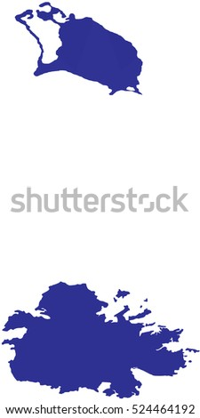 Antigua And Barbuda Map Stock Images RoyaltyFree Images - Antigua and barbuda map