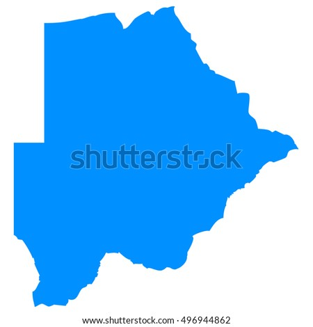 High detailed blue vector map - Botswana