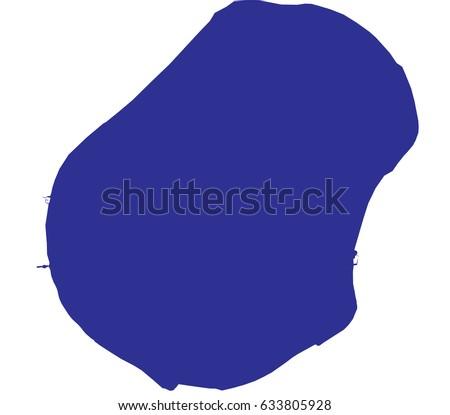 High Detailed Blue Vector Map Nauru Stock Vector - Nauru map vector