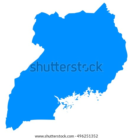 Uganda Map Stock Images RoyaltyFree Images Vectors Shutterstock - Map of uganda