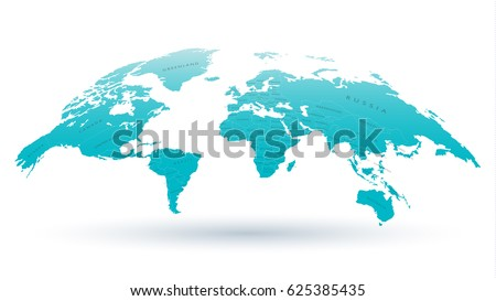 High detailed 3 d map world national vector de stock625385435 high detailed 3d map of the world with national borders for scientific presentations articles or gumiabroncs Images