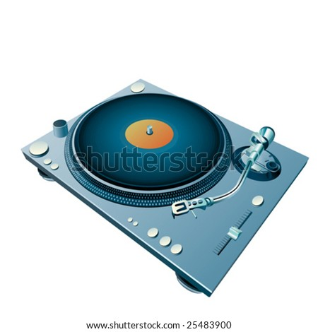 high detailed isolated turntable