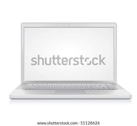High detailed laptop. Vector illustration. - stock vector