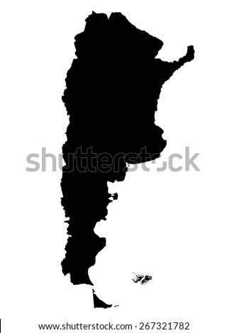 High detailed of Argentina vector illustration map - stock vector