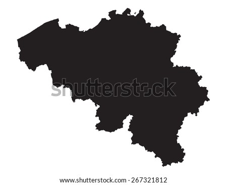 High detailed of Belgium vector illustration map
