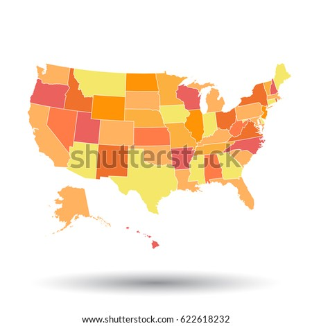 Usa Map Stock Vector Shutterstock - Us map illustration