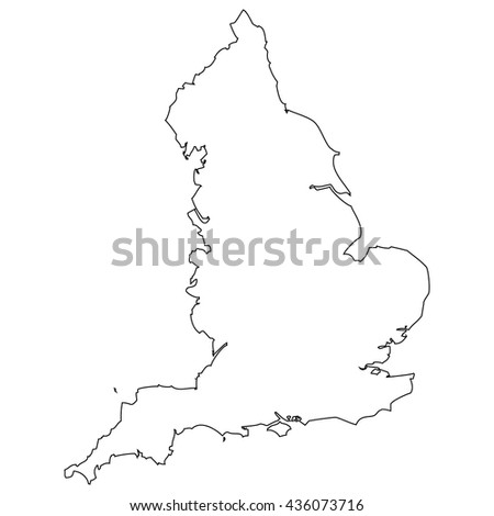High detailed vector contour map - England