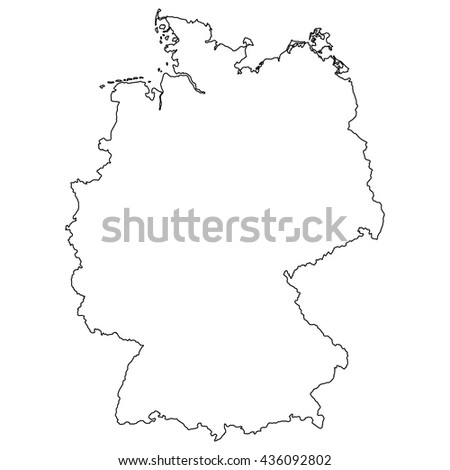High detailed vector contour map - Germany