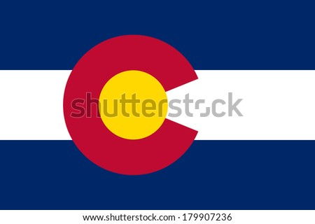 High detailed vector flag of Colorado - stock vector