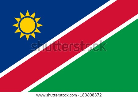 High detailed vector flag of Namibia - stock vector