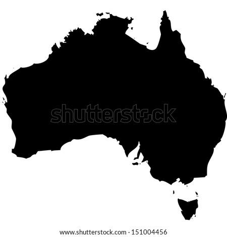 High detailed vector map - Australia  - stock vector