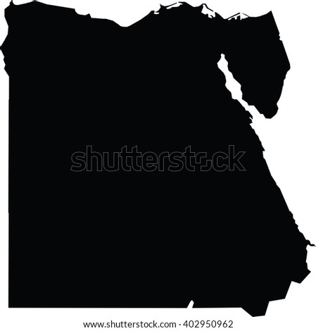 High detailed vector map - Egypt