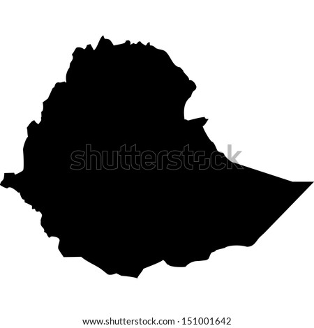 High detailed vector map - Ethiopia  - stock vector