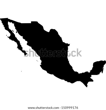Mexico Stock Images RoyaltyFree Images Vectors Shutterstock - Us mexico vector map