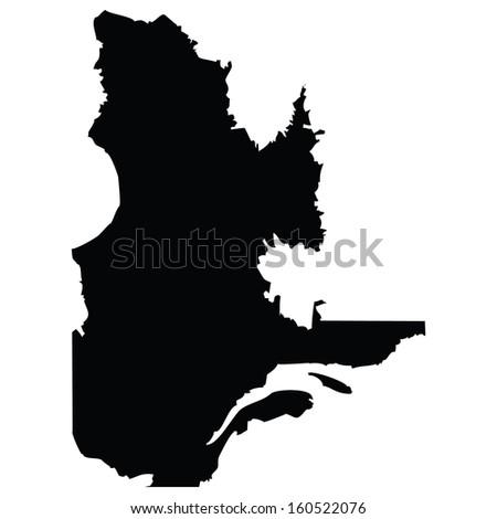 High detailed vector map - Quebec  - stock vector