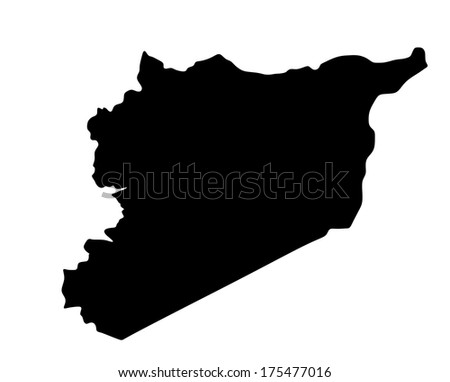 High detailed vector map - Syria isolated on white background. - stock vector