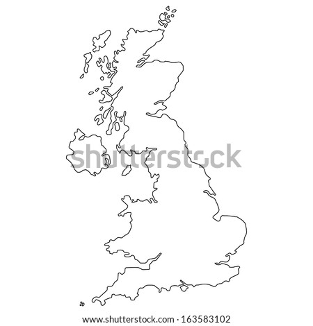 High detailed vector map - United Kingdom  - stock vector