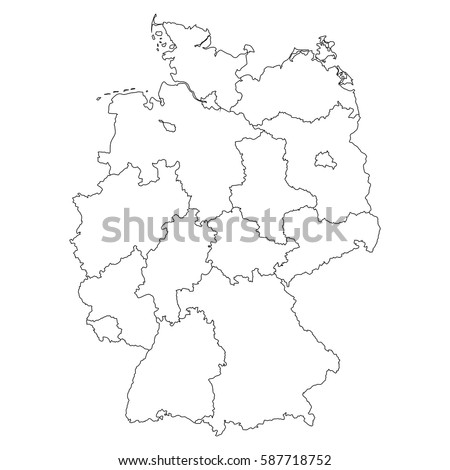 high detailed vector map with countiesregionsstates germany