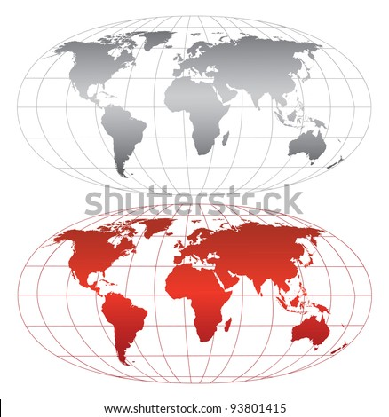 High detailed world map. Vector eps8. Separate layers - stock vector