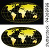 High detailed world map 5000x5774. Vector eps8. Separate layers - stock photo
