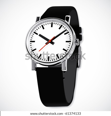 High-detailed wrist watch - stock vector
