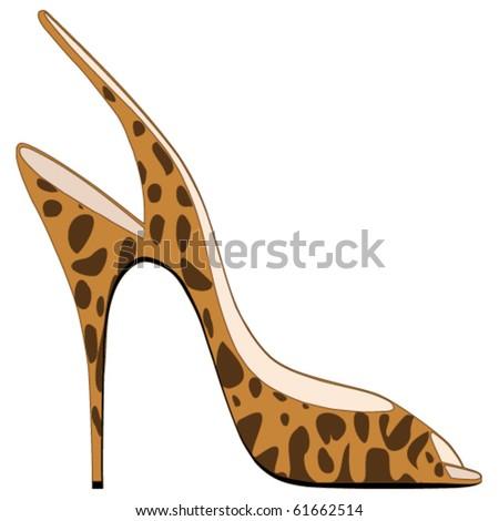 High heeled Sandal - stock vector