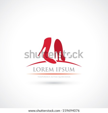 High heels label - vector illustration - stock vector