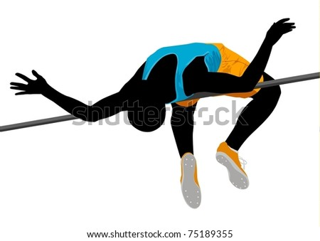 High Jump - stock vector