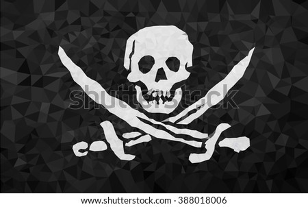 High polly pirat flag in EPS 8 Format - stock vector