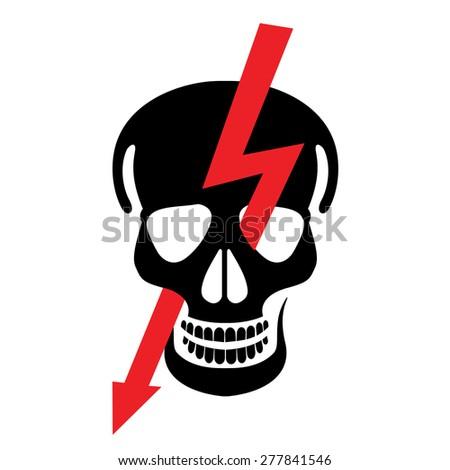 high power danger - stock vector