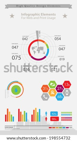 High quality business infographic elements  - stock vector