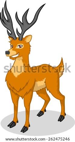 High Quality Deer Vector Cartoon Illustration - stock vector