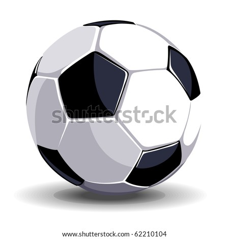 high quality isolated soccer ball - stock vector
