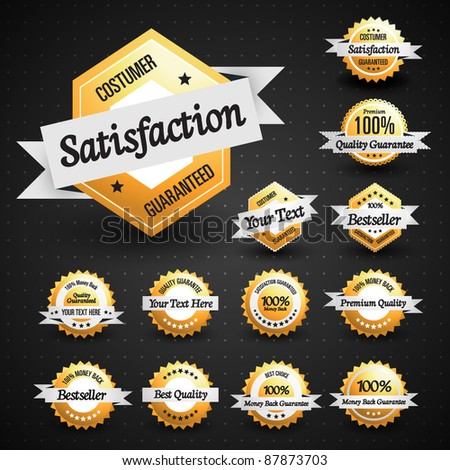 High Quality Labels Collection - stock vector