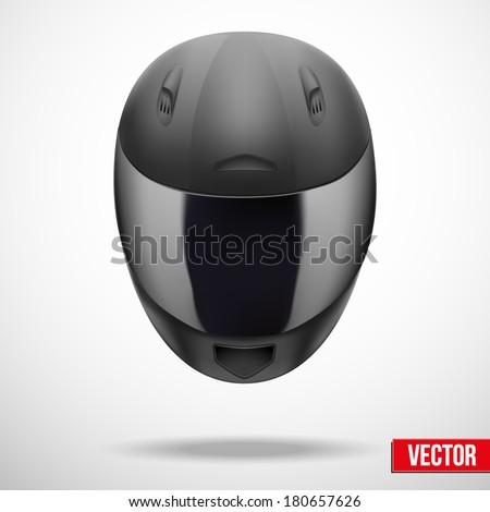 High quality light gray motorcycle helmet. Sport vector Illustration, eps10. - stock vector