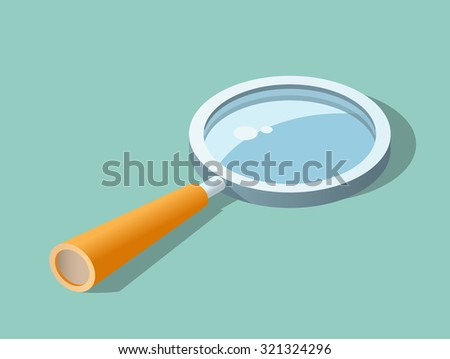 High Quality Magnifying Glass. Isolated Vector Illustration. - stock vector